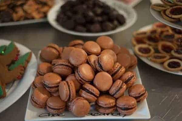 A plate of Chocolate Macaron