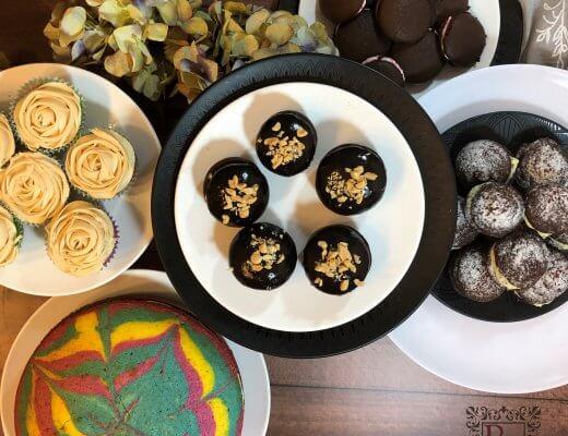 Cupcakes and tie dye cake | becs-table.com.au