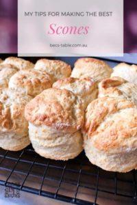 Pinterest image for easy scone recipe