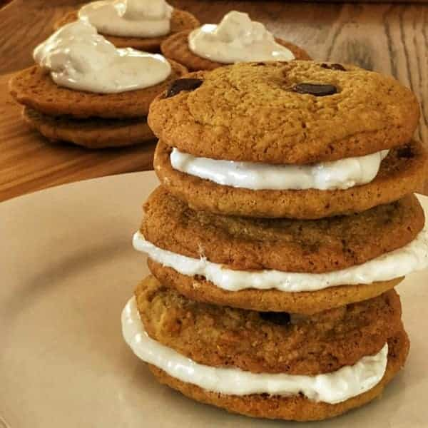 Marshmallow filled choc chip cookies | becs-table.com.au