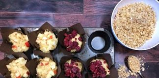 Apple or Raspberry muffins thermomix and conventional recipes