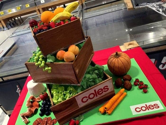 A cake that was made for Coles Grand Opening at Casey Central